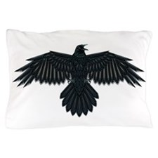 Beadwork Crow or Raven Pillow Case