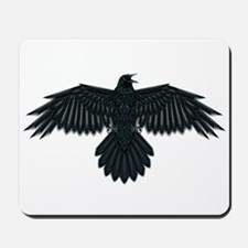 Beadwork Crow or Raven Mousepad