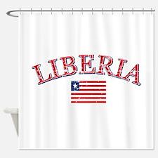 Liberia Football Shower Curtain