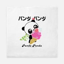 panda icecream PNG.png Queen Duvet