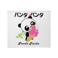 panda icecream PNG.png Throw Blanket