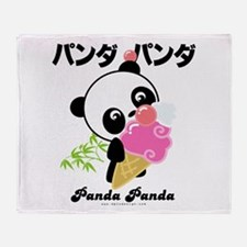 panda icecream PNG.png Throw Blanket