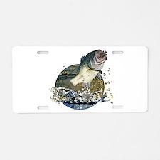 Largemouth Bass Aluminum License Plate