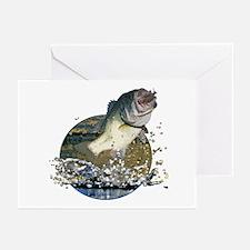 Largemouth Bass Greeting Cards (Pk of 10)