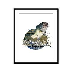 Largemouth Bass Framed Panel Print