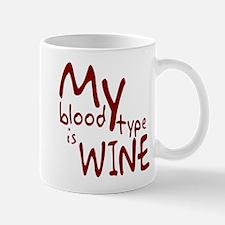 My Blood Type Is Wine Mug