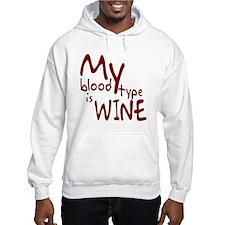 My Blood Type Is Wine Hoodie