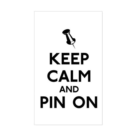 Keep Calm and Pin On Sticker (Rectangle)
