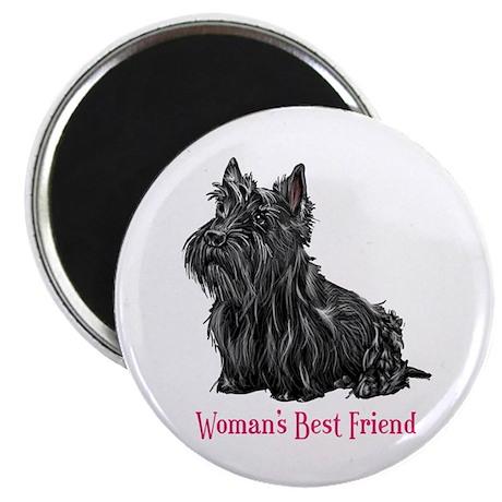 Woman's Best Friend Scottie Magnet