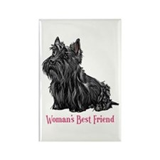 Woman's Best Friend Scottie Rectangle Magnet