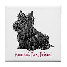 Woman's Best Friend Scottie Tile Coaster