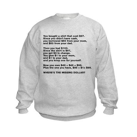 $97 Shirt Math Problem Kids Sweatshirt