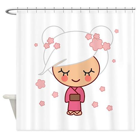 Cherry blossom girl copy jpg shower curtain by pinkcherrygirl