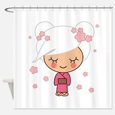 cherry blossom girl copy.jpg Shower Curtain