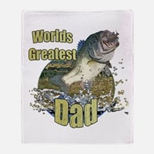 World's greatest dad Throw Blanket
