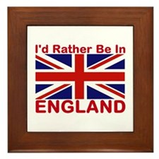 England Lover Framed Tile