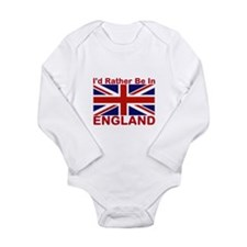 England Lover Long Sleeve Infant Bodysuit