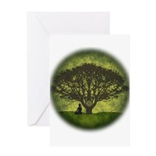 Buddha Under the Bodhi Tree Greeting Card