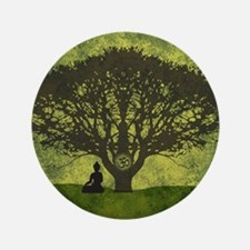 "Buddha Under the Bodhi Tree 3.5"" Button (100 pack)"