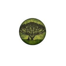 Buddha Under the Bodhi Tree Mini Button