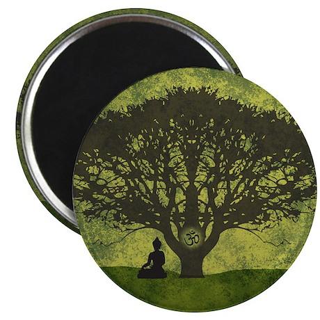 "Buddha Under the Bodhi Tree 2.25"" Magnet (10 pack)"