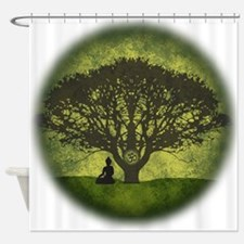 Buddha Under the Bodhi Tree Shower Curtain