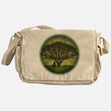 Buddha Under the Bodhi Tree Messenger Bag