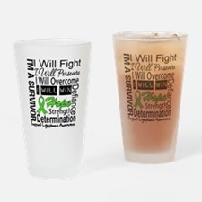 Lymphoma Persevere Drinking Glass