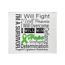 Lymphoma Persevere Throw Blanket