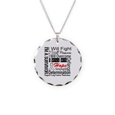 Lung Cancer Persevere Necklace