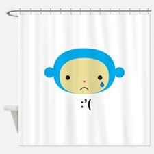 Emoticonal Monkey - Crying Shower Curtain