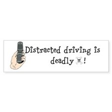 Distracted driving Bumper Bumper Sticker