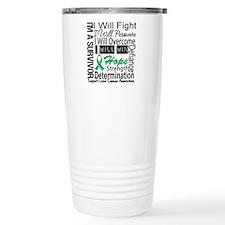 Liver Cancer Persevere Travel Coffee Mug