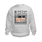 Leukemia Persevere Kids Sweatshirt
