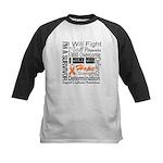 Leukemia Persevere Kids Baseball Jersey