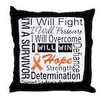 Leukemia Persevere Throw Pillow