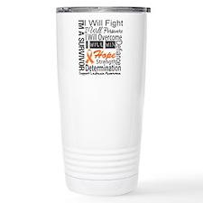 Leukemia Persevere Travel Coffee Mug
