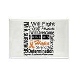 Leukemia Persevere Rectangle Magnet (100 pack)