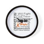 Leukemia Persevere Wall Clock