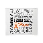 Leukemia Persevere Throw Blanket