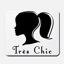 Tres Chic girl.png Mousepad