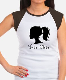 Tres Chic girl.png Women's Cap Sleeve T-Shirt