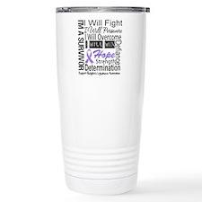 Hodgkin Disease Persevere Travel Mug