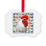 Roosters! Picture Ornament