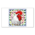 Roosters! Sticker (Rectangle 10 pk)