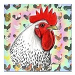 Roosters! Square Car Magnet 3
