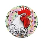 """Roosters! 3.5"""" Button"""