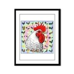 Roosters! Framed Panel Print