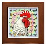 Roosters! Framed Tile