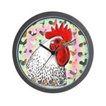 Roosters! Wall Clock